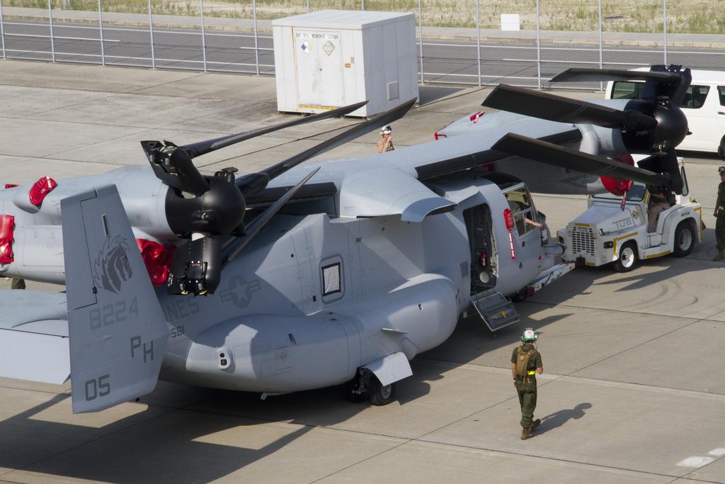 "Американский конвертоплан MV-22 Osprey (""Оспри"")."