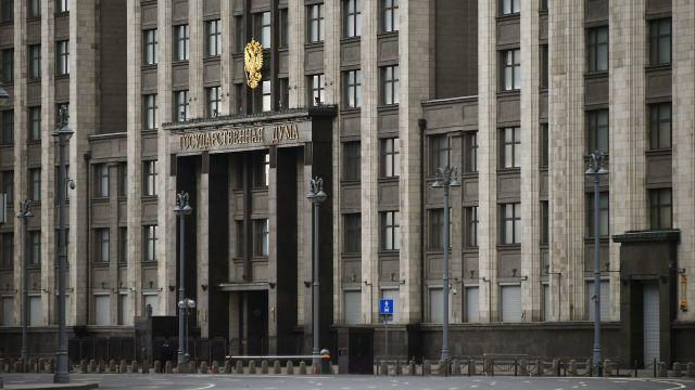 У здания Государственной Думы РФ в Москве