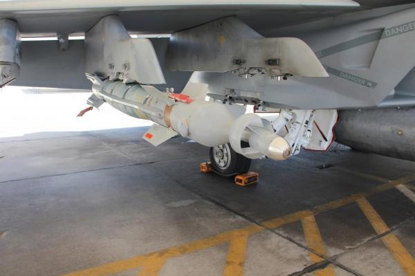 УАБ Paragon, установленная на истребителе F/A-18 Super Hornet.