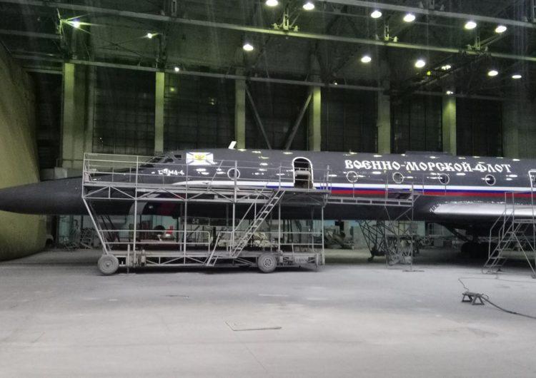 Учебно-боевой самолет Ту-134УБЛ ВМФ России.