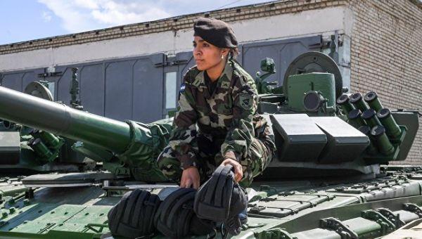 Военнослужащая ВС Никарагуа