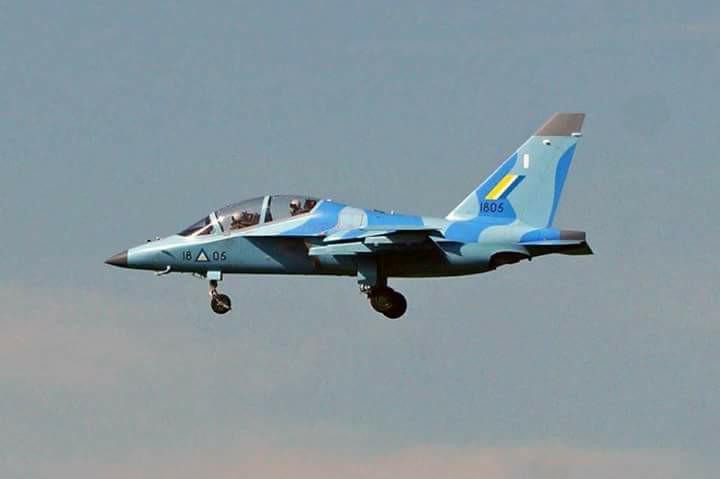 """Учебно-боевой самолет Як-130 ВВС Мьянмы (бортовой номер """"1805"""")."""