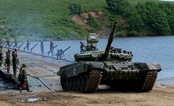 Учения инженерных подразделений 5-й общевойсковой армии Дальневосточного военного округа.