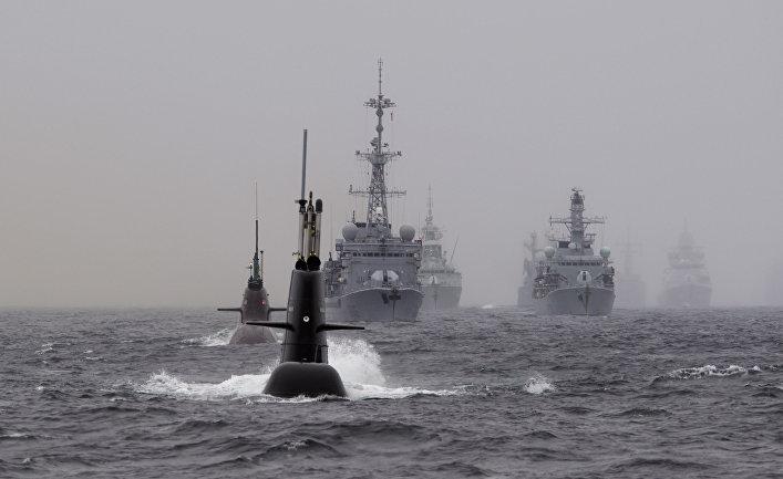 Учения НАТ в Северном море в Норвегии.
