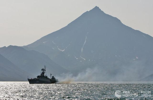 Учения Тихоокеанского флота (ТОФ). Архивное фото