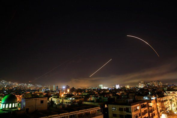Удар по сирийским объектам