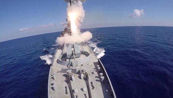 Удар крылатыми ракетами Калибр. Архивное фото