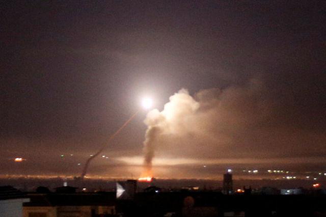 Удар ВВС Израиля по сирийской территории