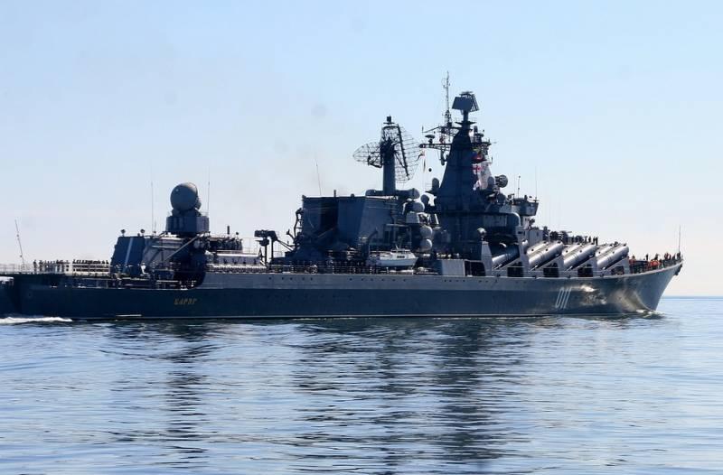 "Тихоокеанский флот провел учения в море с участием флагмана - крейсера ""Варяг"""