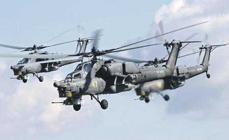 Ударные вертолеты Ми-28Н.