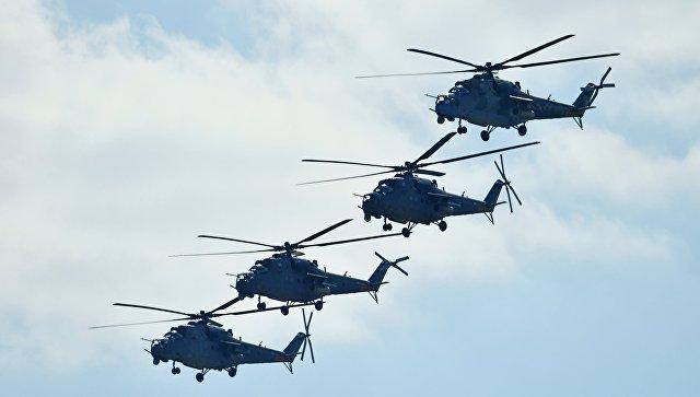Ударные вертолеты Ми-35. Архивное фото.