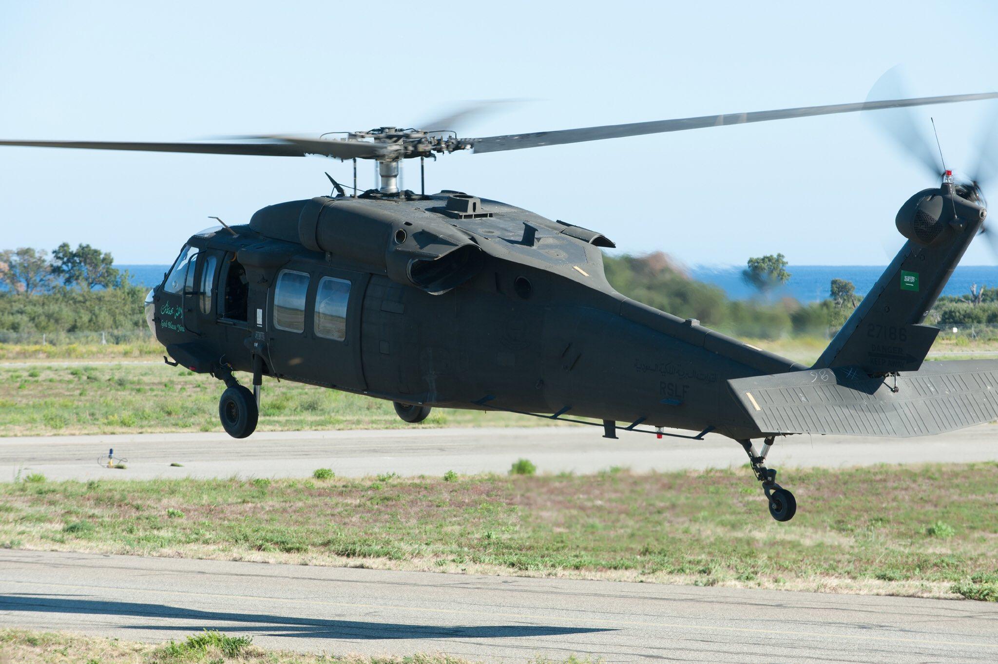 Многоцелевой вертолет Sikorsky UH-60L Black Hawk армейской авиации Саудовской Аравии, 2014 год.