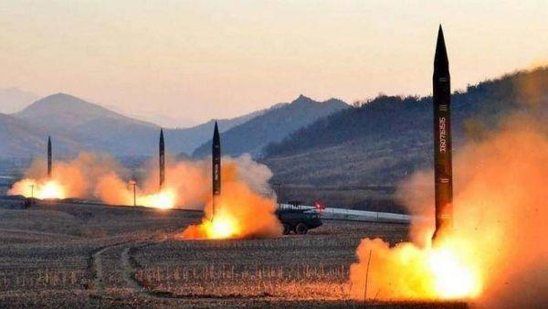 Старт баллистических ракет в КНДР