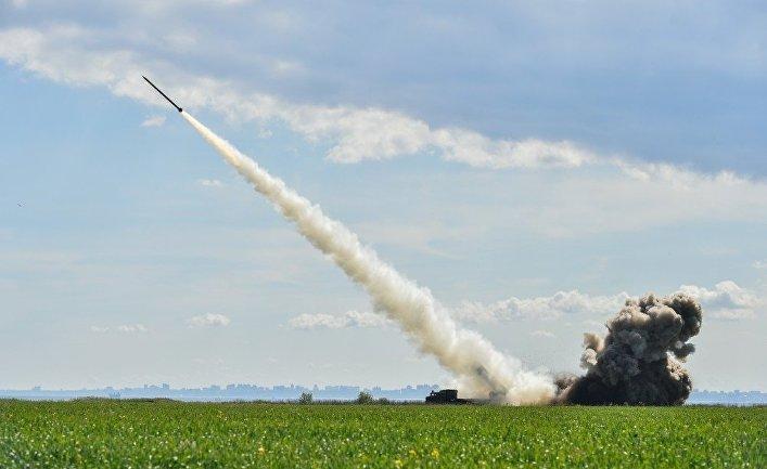 Украинские военные провели испытания новой украинской высокоточной управляемой боевой ракеты, 26 мая 2017.