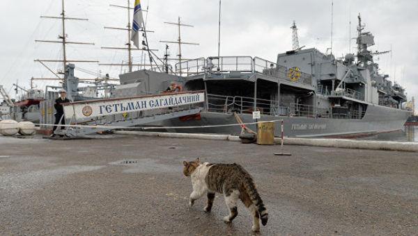 Украинский фрегат Гетман Сагайдачный. Архивное фото