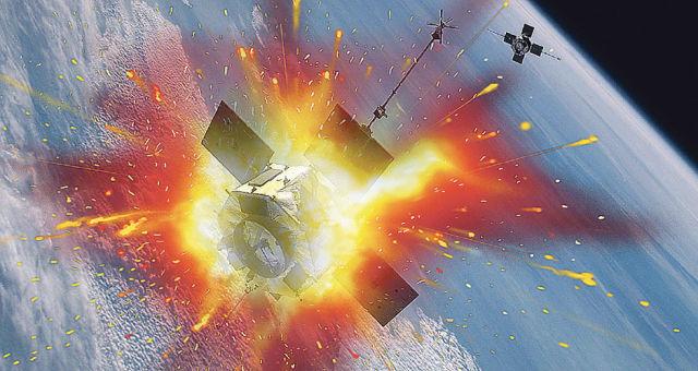 Уничтожение спутника на орбите