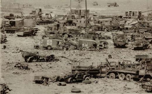 Уничтоженная во Вьетнаме американская военная техника.