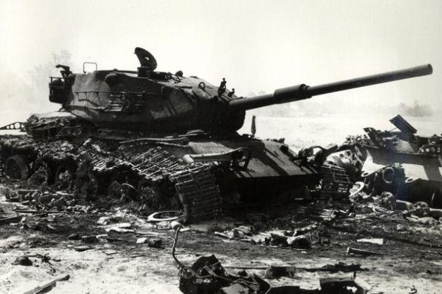 Уничтоженный танк М-60