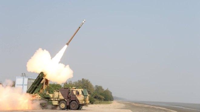 Испытания УР Pinaka Mk II