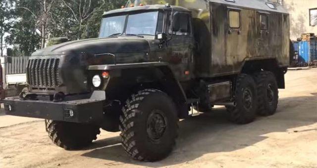 Урал-43203 - базовый автомобиль для АЗК-7