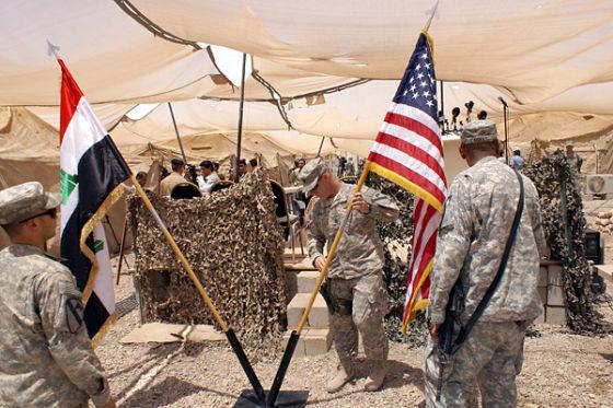 Флаги США и Ирака