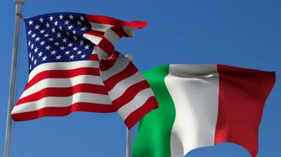 Флаги США и Италии