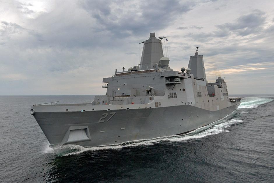 USS Portland в Мексиканском заливе.