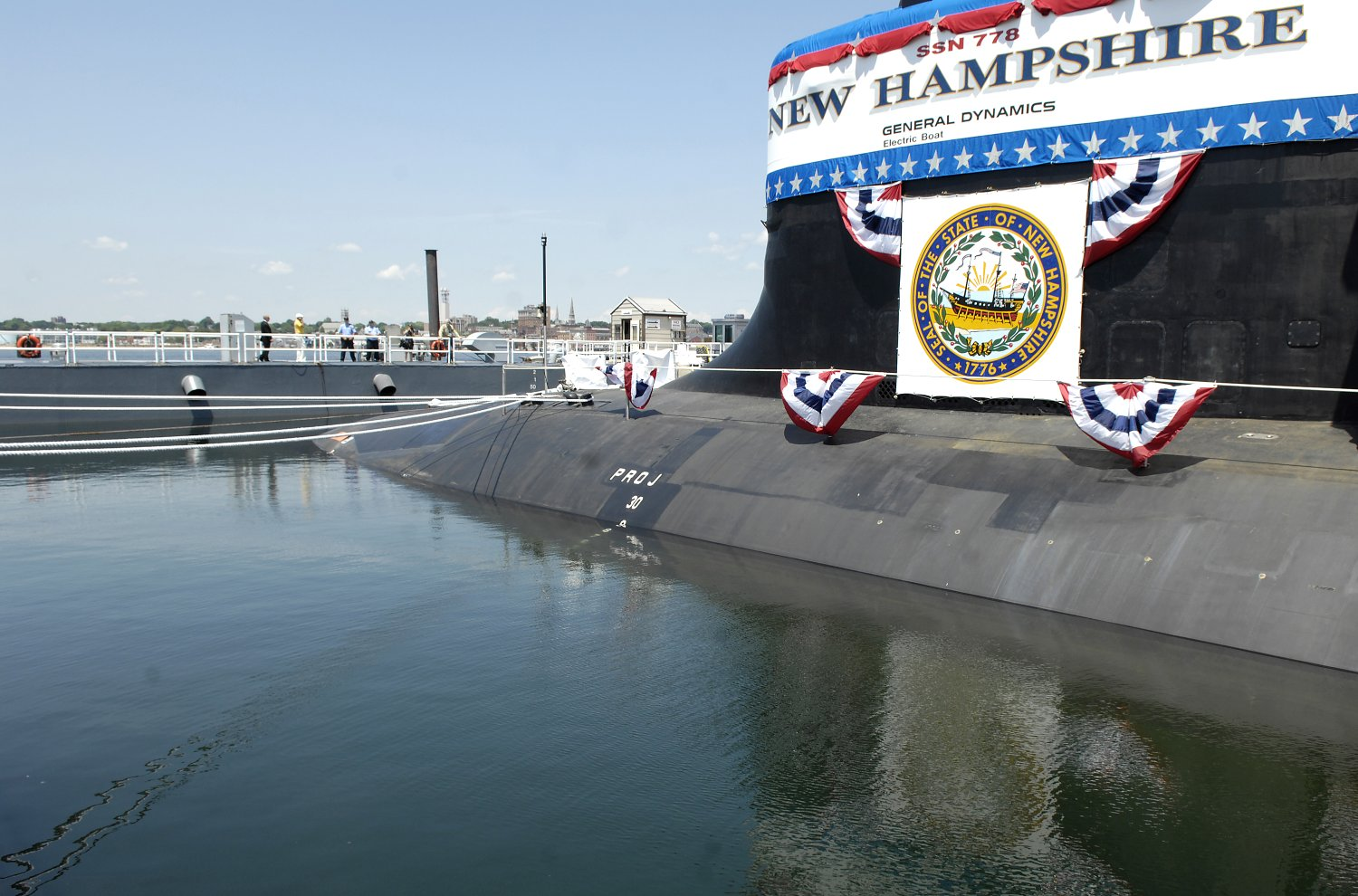 Атомная ударная подводная лодка USS New Hampshire (SSN 778) класса Virginia.