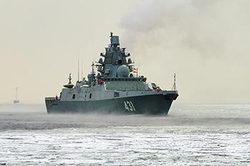 """В походе фрегат """"Адмирал Касатонов"""". Фото с сайта www.mil.ru"""