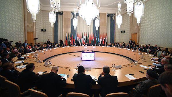 V министерская сессия Российско-Арабского Форума сотрудничества с участием Министра иностранных дел России Сергея Лаврова в Москве. 16 апреля 2019