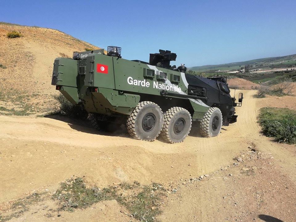 Бронетранспортеры Renault Truck Defense VAB Mk 3 Национальной гвардии Туниса, март 2017 года.