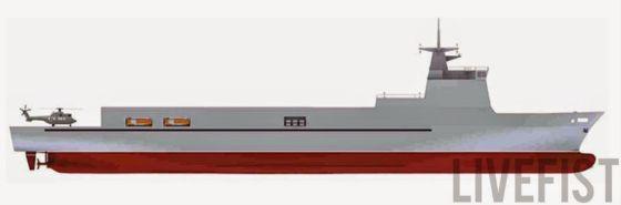 Изображение судна проекта VC 11184 http://vpk.name/images/i118832.html - ВМС Индии получат новый корабль водоизмещением в 10 000 тонн | Военно-исторический портал Warspot.ru
