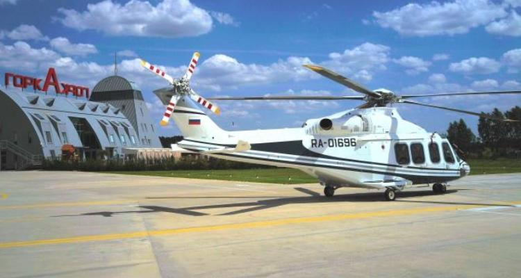 """Вертолет AW139 с бортовым номером RA-01696 для компании """"Скайпро Хеликоптерс"""" прибыл на вертодром Горка 22 июня."""