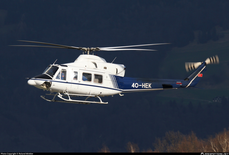 Вертолет Agusta Bell AB412EP (регистрационный номер 4O-HEK, серийный номер 25908) полиции Черногории, 19.03.2014.