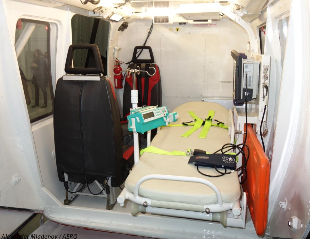Вариант транспортного модуля для санитарного варианта вертолета с быстросъемным оборудованием.