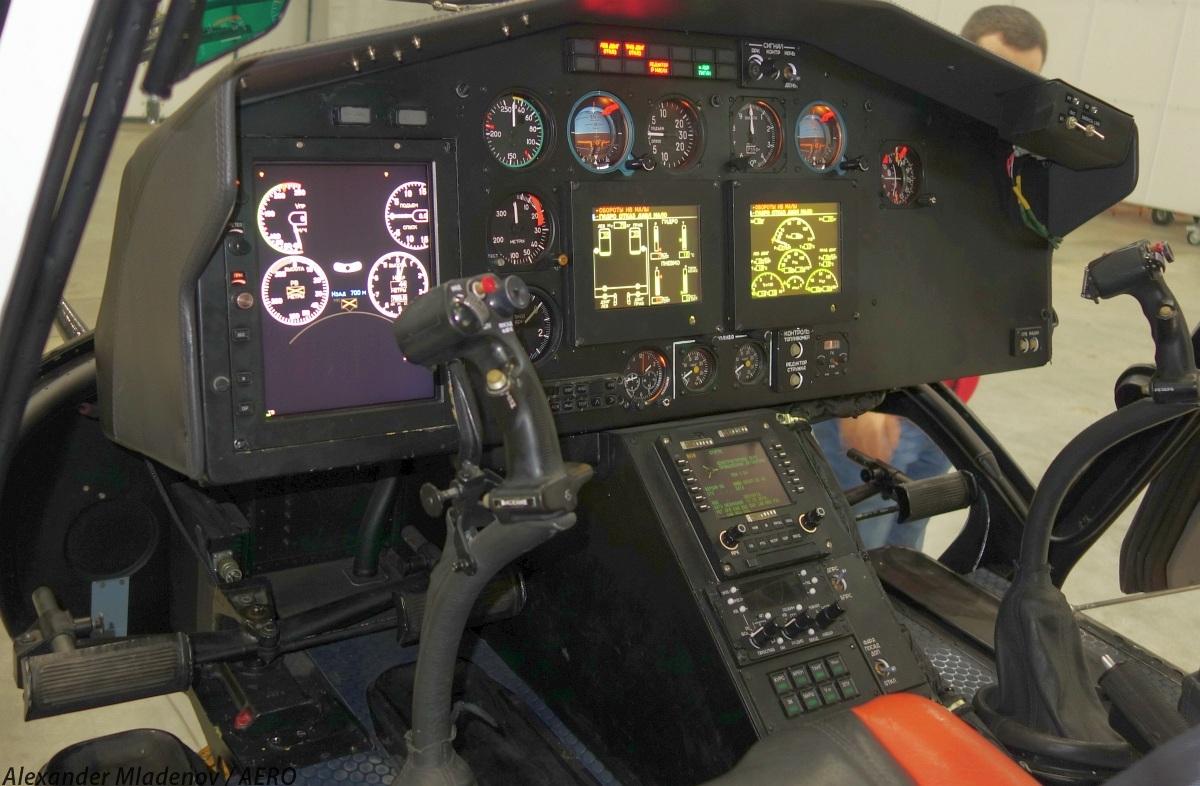 Кабина пилотов вертолета Ка-226Т.