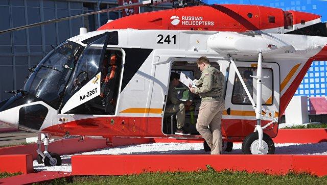 Вертолет Ка-226Т, представленный на Международном авиационно-космическом салоне МАКС-201 в подмосковном Жуковском. Архивное фото.