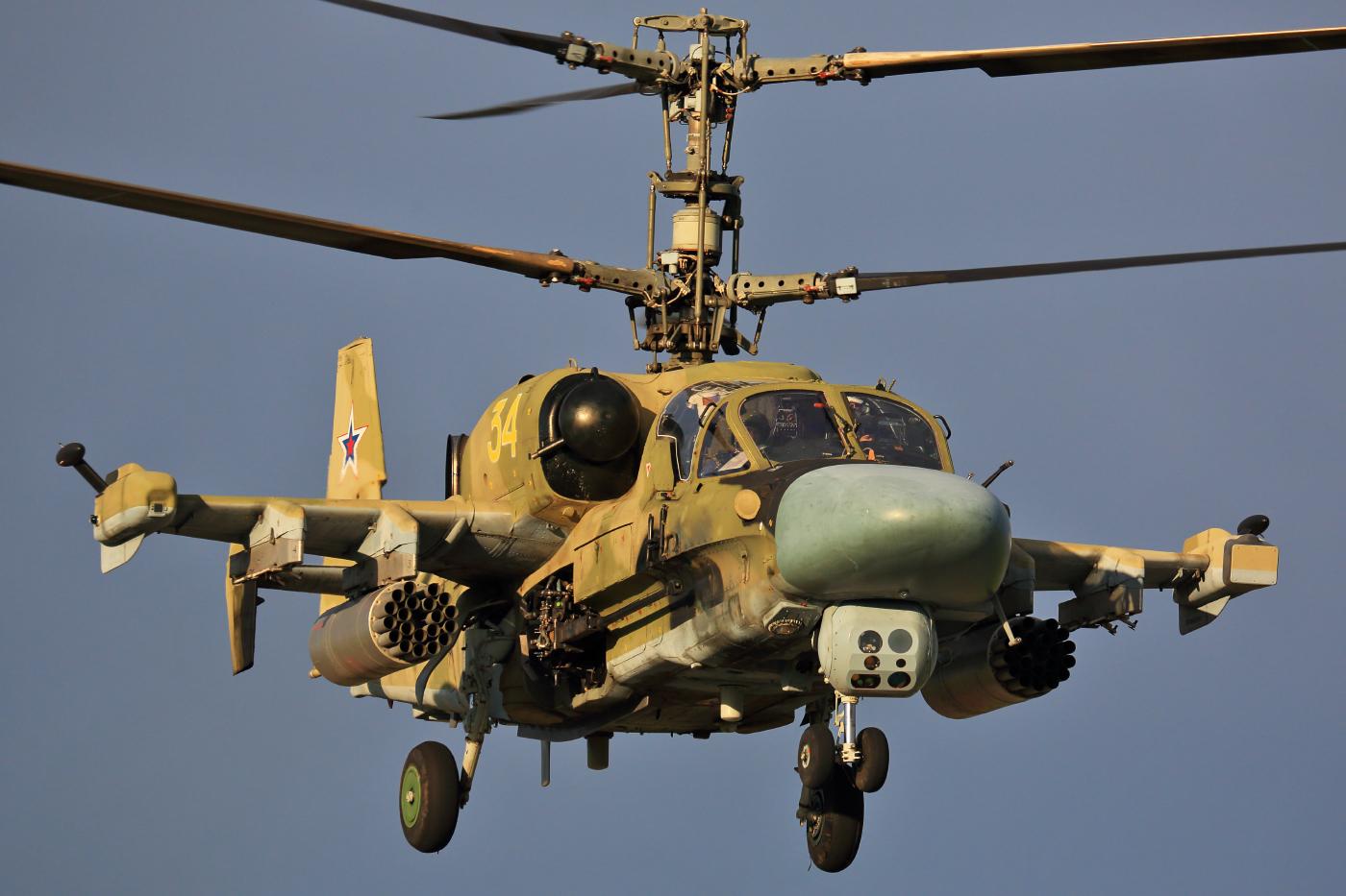 """Вертолет Ка-52 """"Аллигатор""""."""