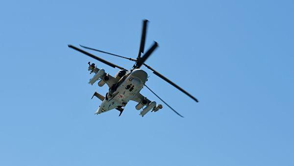 """Вертолет Ка-52 """"Аллигатор"""" 4-й армии ВВС РФ"""