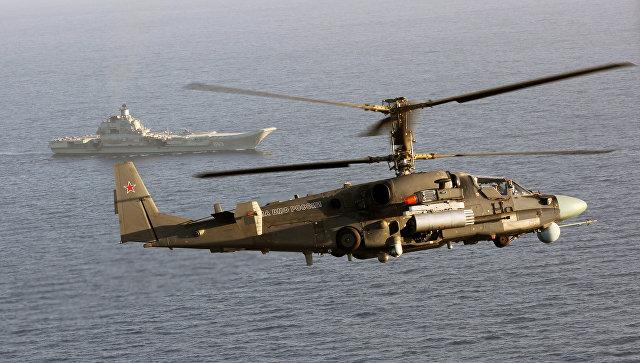 Вертолет Ка-52К. Архивное фото.