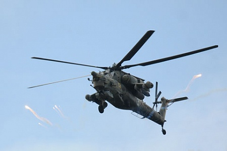 """Вертолет Ми-28Н """"Ночной охотник""""."""
