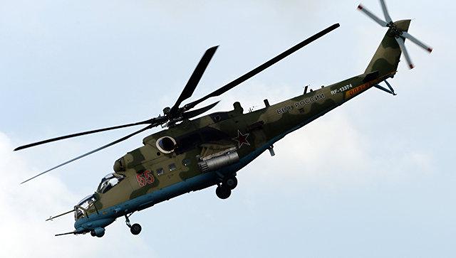 Вертолет Ми-35. Архивное фото.