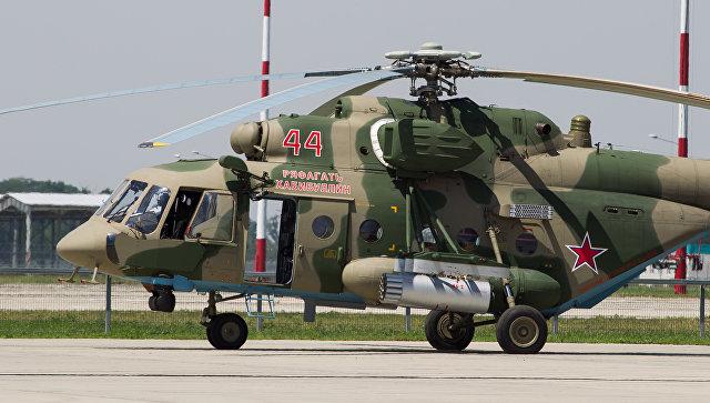 Вертолет Ми-8, названный в честь Героя России Ряфагатя Хабибуллина.