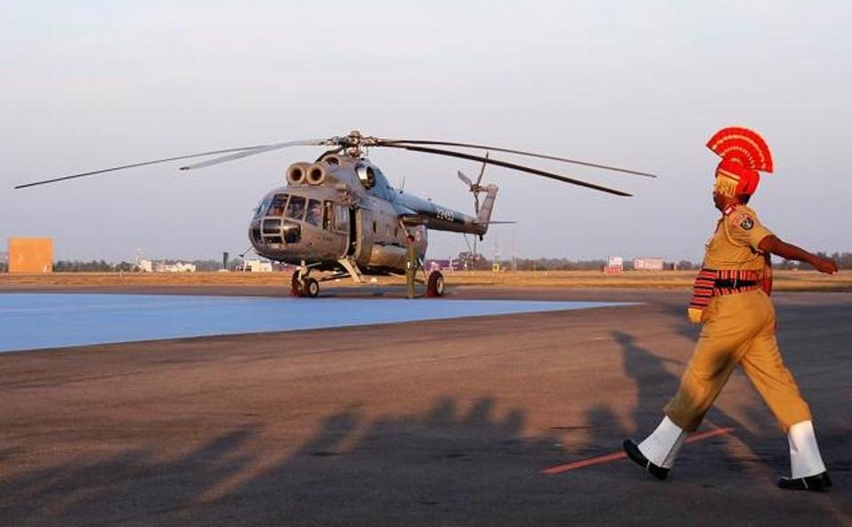 Церемония вывода вертолетов Ми-8Т из состава ВВС Индии. Йелаханка, 17.12.2017.