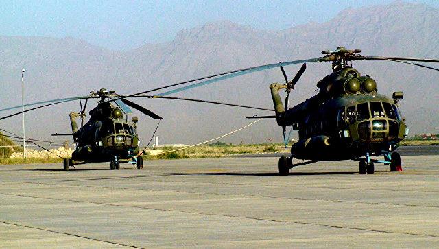 Вертолетный парк ВВС Афганистана, вертолеты Ми-17.