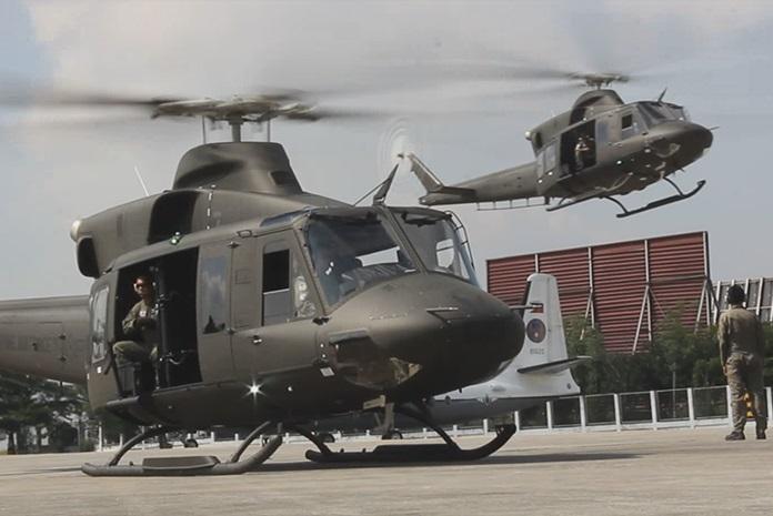 Многоцелевые вертолеты Bell 412EP ВВС Филиппин.