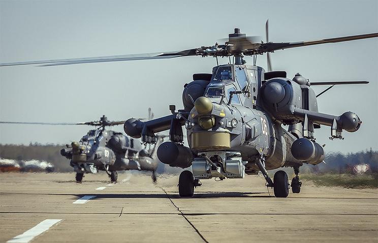 Вертолеты Ми-28Н.