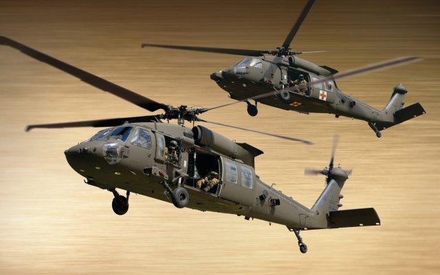 Вертолеты Sikorsky UH-60M Black Hawk и HH-60M MEDEVAC.