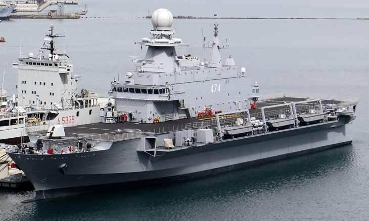 Вертолётоносец Kalaat Beni Abbas, на базе которого будет построен десантный корабль для Катара.