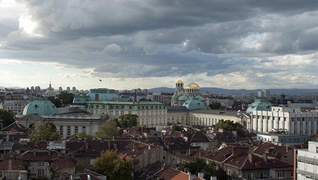 Вид на город София, Болгария. Архивное фото.